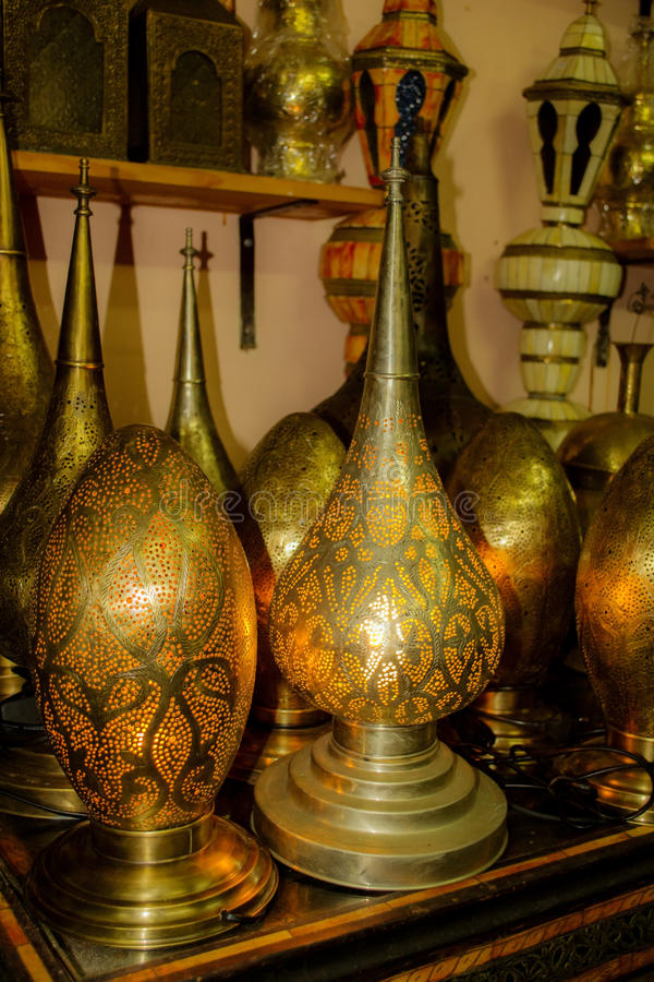 Lampes marocaines forgées photographie stock