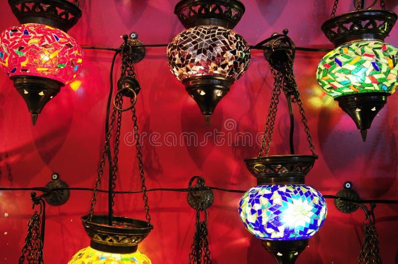 Lampes pour des vacances photos stock