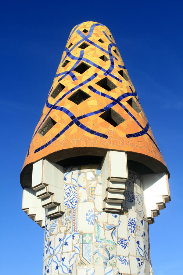 Lampglas på palauiska Guell royaltyfria foton