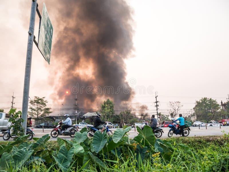 Lamphun, Thailand - 9. April 2016: Während des Morgens am 9. April, 2 stockfotos