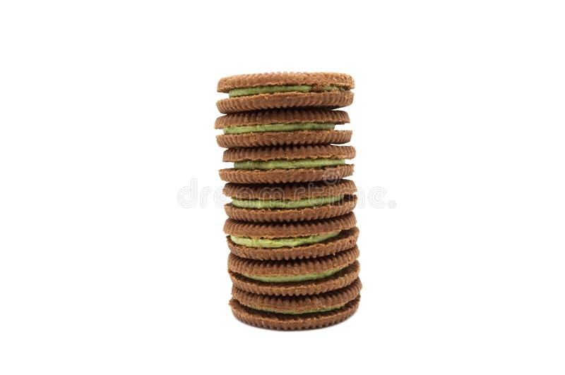 LAMPHUN, THAILAND - JUNE 5, 2019: Jack and Jill Biscuits isolated on white background. LAMPHUN, THAILAND - MARCH 11, 2019: Jack and Jill Biscuits isolated on royalty free stock image