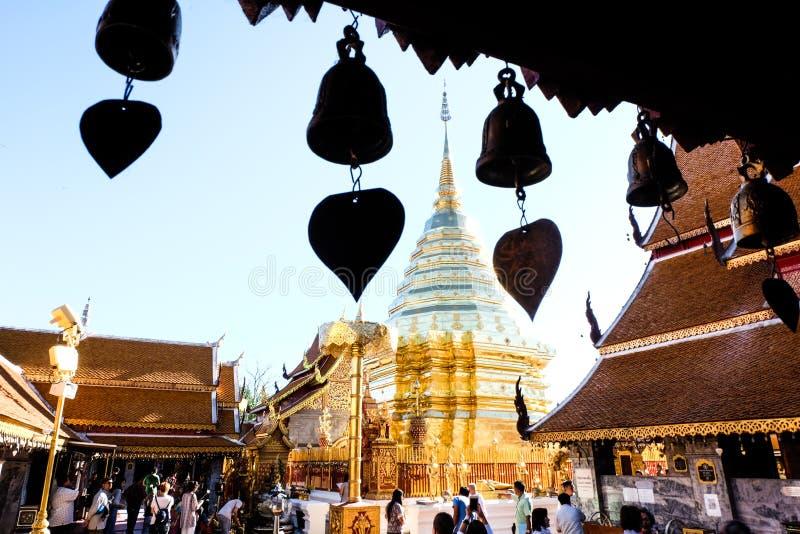 Lamphun Wat Phra That Hariphunchai stock afbeelding