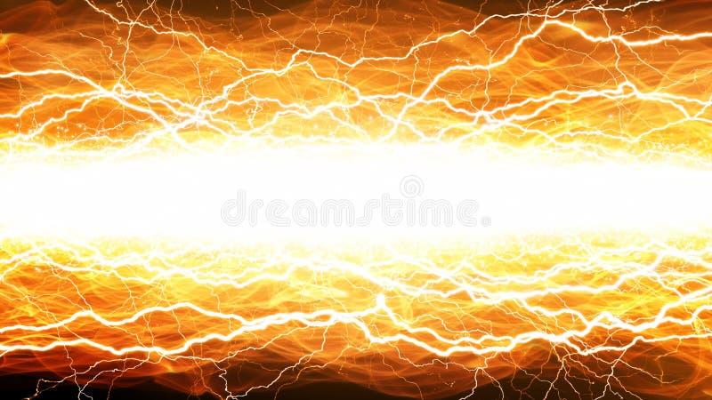 Lampi e fuoco illustrazione di stock