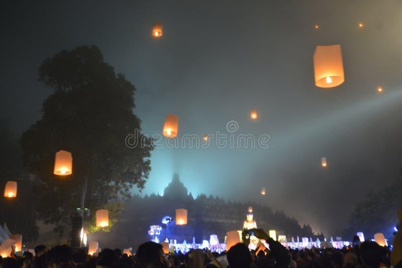 Lampion выпуская церемонию стоковая фотография