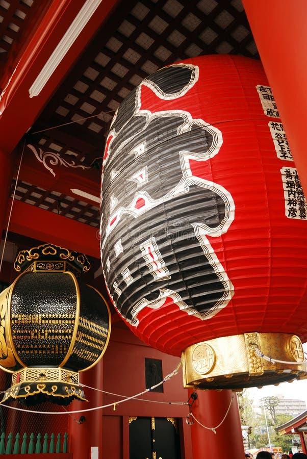 Lampion au temple d'Asakusa, Tokyo, Japon photos libres de droits