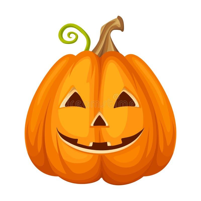 lampion Halloween rzeźbiąca pączuszku również zwrócić corel ilustracji wektora ilustracji