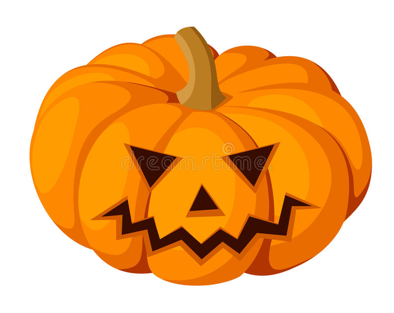 lampion. Halloweenowa bania. Wektorowy illustra ilustracja wektor