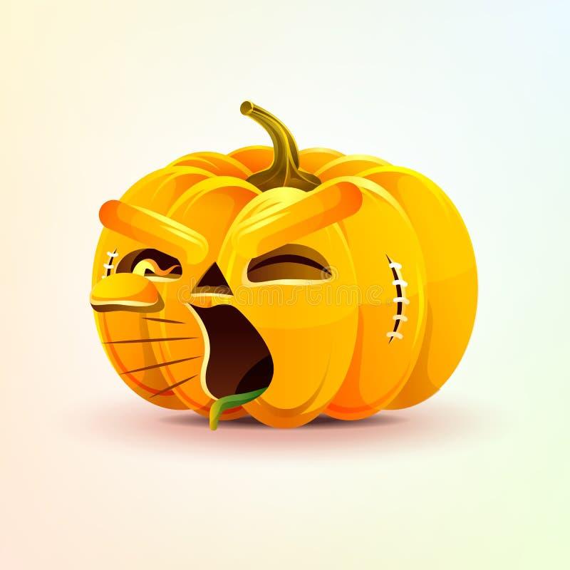 Lampion, okropna wyraz twarzy bania royalty ilustracja