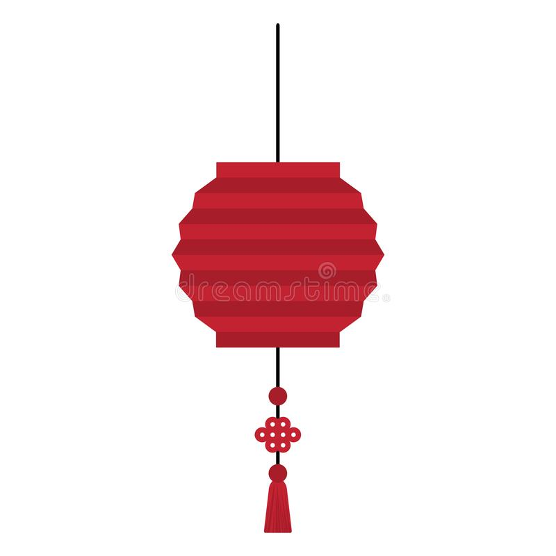 Lampion rouge illustration libre de droits