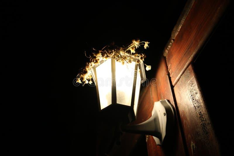 Lampion skiner vägen till hemmet! royaltyfria bilder