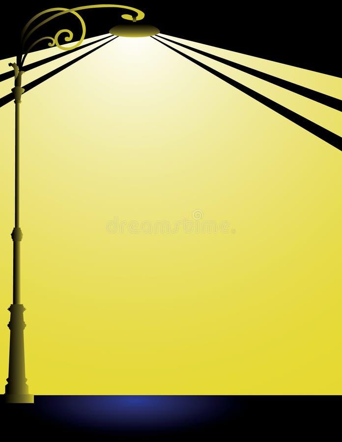 Lampione noir del film immagini stock