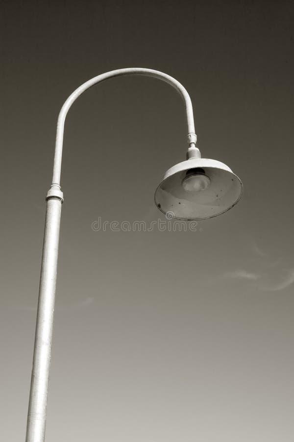Lampione sui bacini: Astoria, Oregon fotografia stock