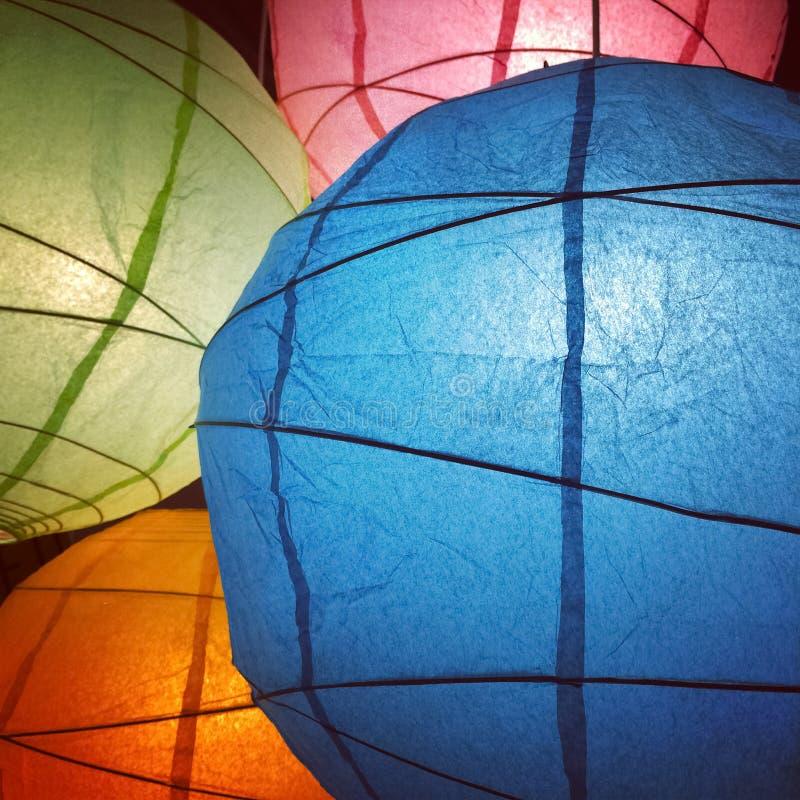 Lampions colorés photographie stock libre de droits