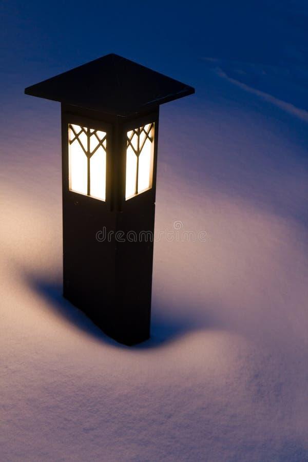 lampionu śnieg zdjęcia stock