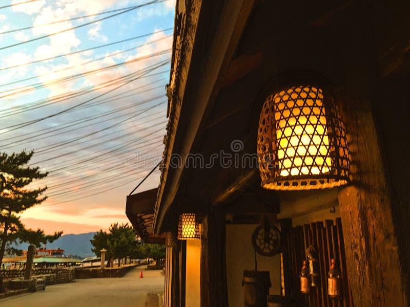Lampionu światło fotografia royalty free
