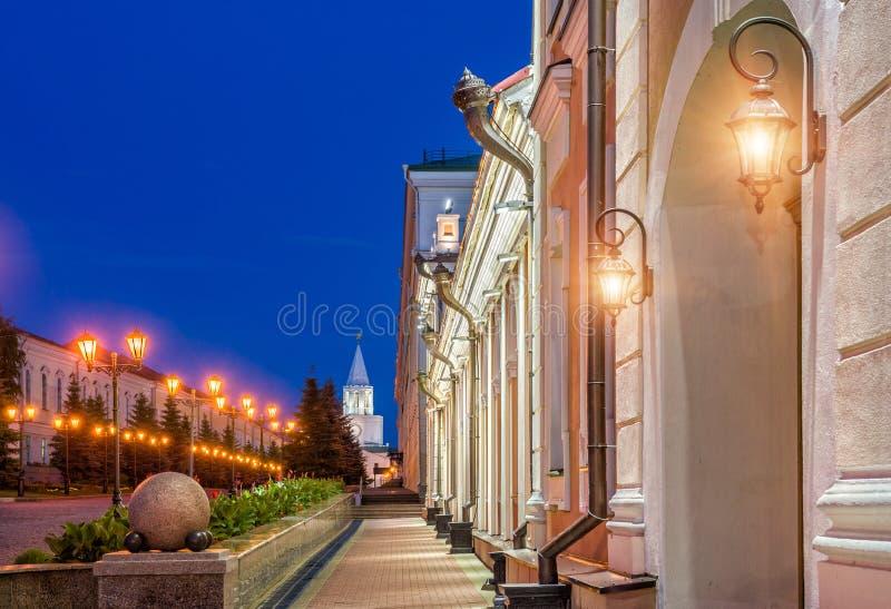 Lampiony przy Kazan Kremlin fotografia stock