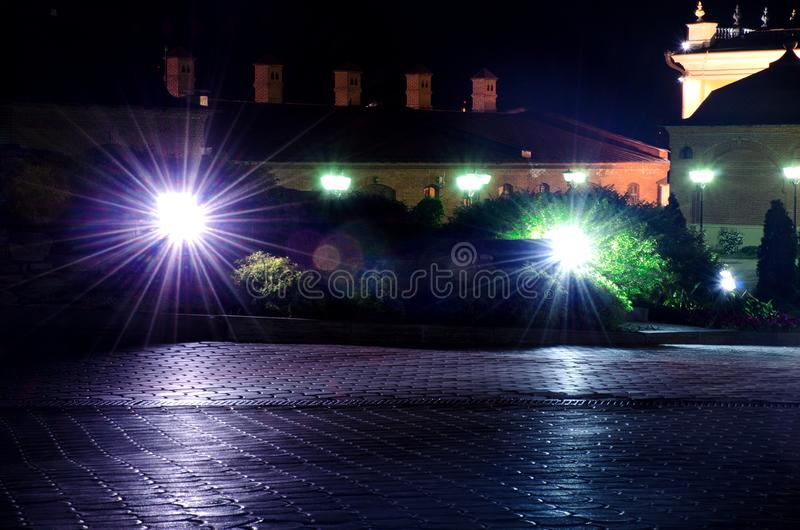 Lampiony wśrodku Kazan Kremlin obrazy royalty free