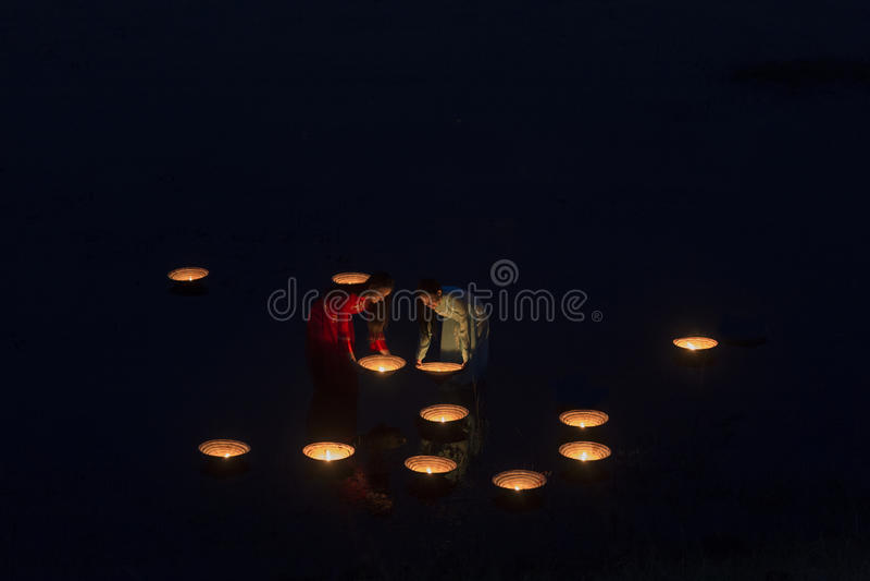 Lamplighter Vietnamese stock fotografie