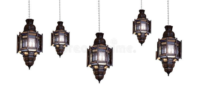 lampmoroccan royaltyfria bilder