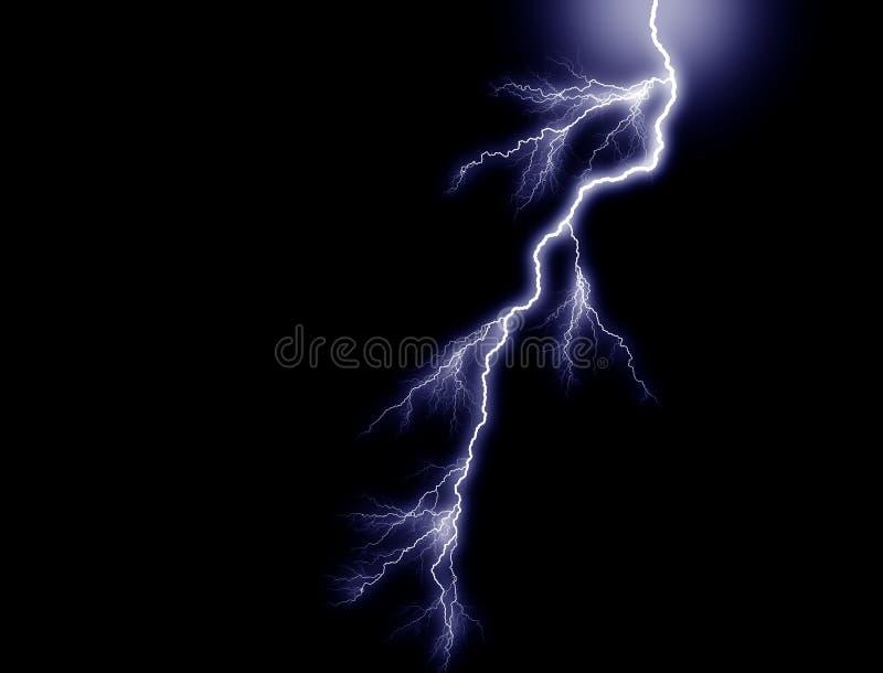 Lampo blu, da sopra illustrazione vettoriale