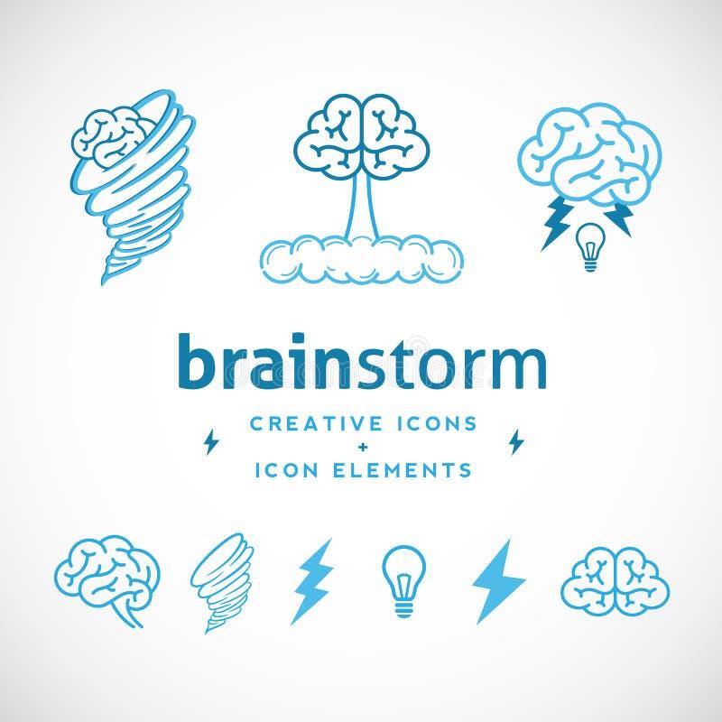 Lampo di genio Logo Template creativo astratto illustrazione vettoriale