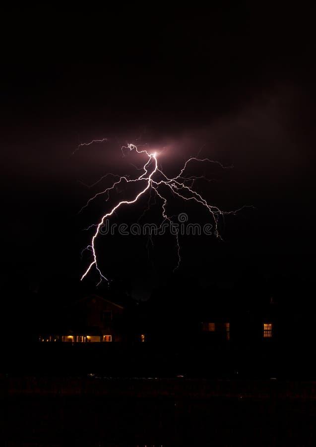 Lampo urbano fotografie stock