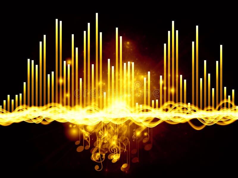 Lampor av musik stock illustrationer