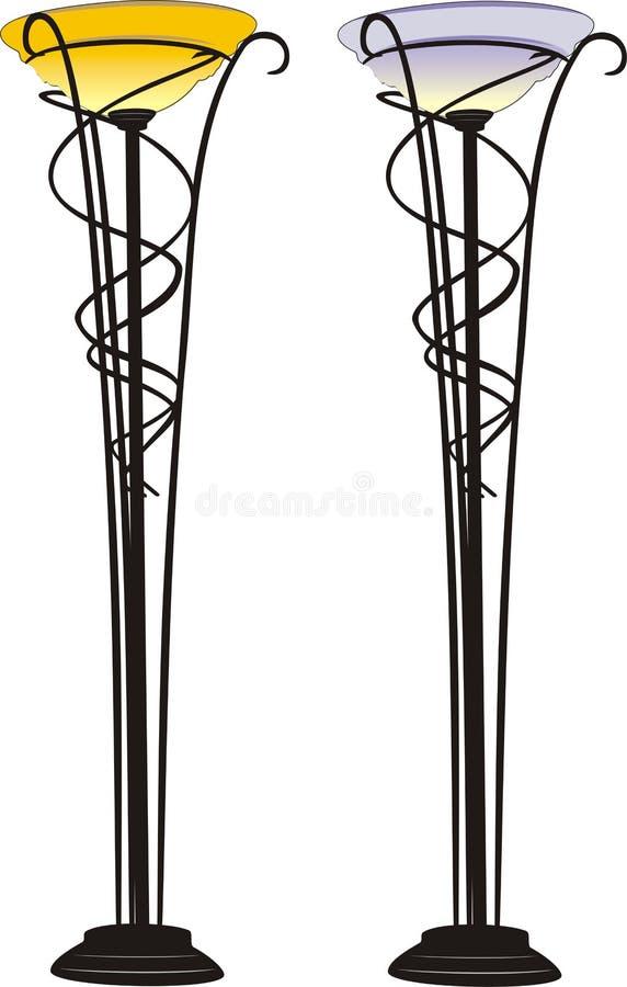 lampor två vektor illustrationer