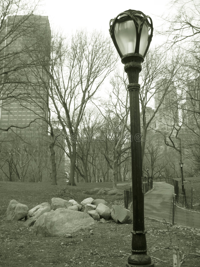 Download Lampost In Central Park, Nyc Stock Image - Image: 597815