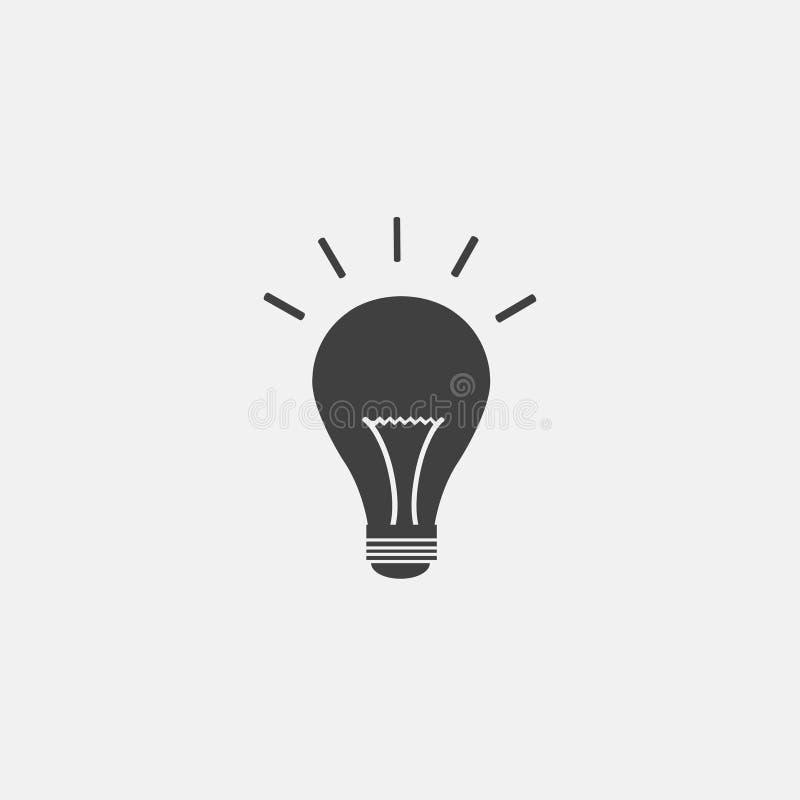 Lampowa ikona ilustracji