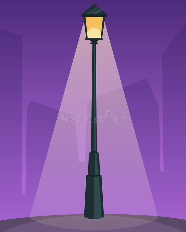 lampowa retro ulica ilustracji