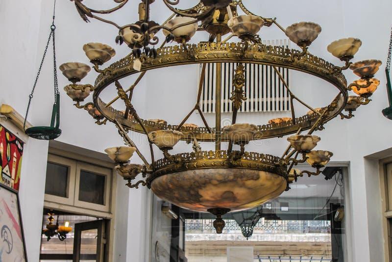 Lampowa rocznika Glassware przedmiota kolekcja Horyzontalna zdjęcia royalty free