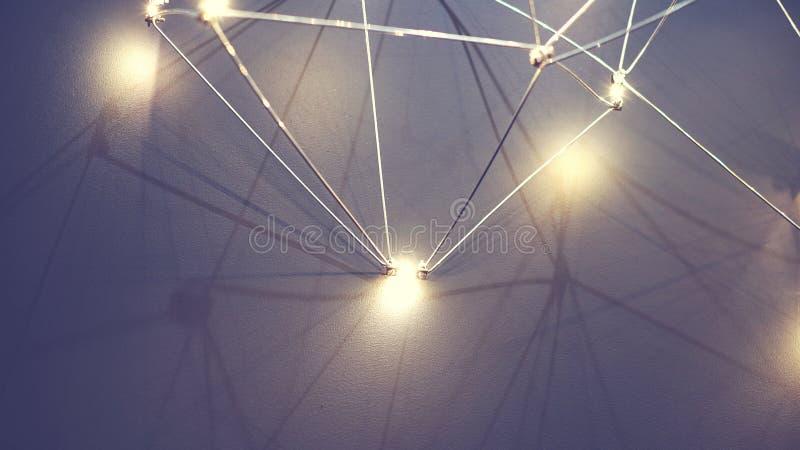 Lampowa sieć, tło zdjęcie royalty free
