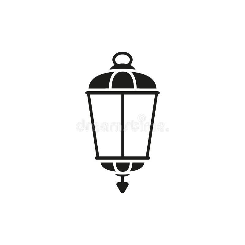 Lampowa stara uliczna czarna ikona ilustracji