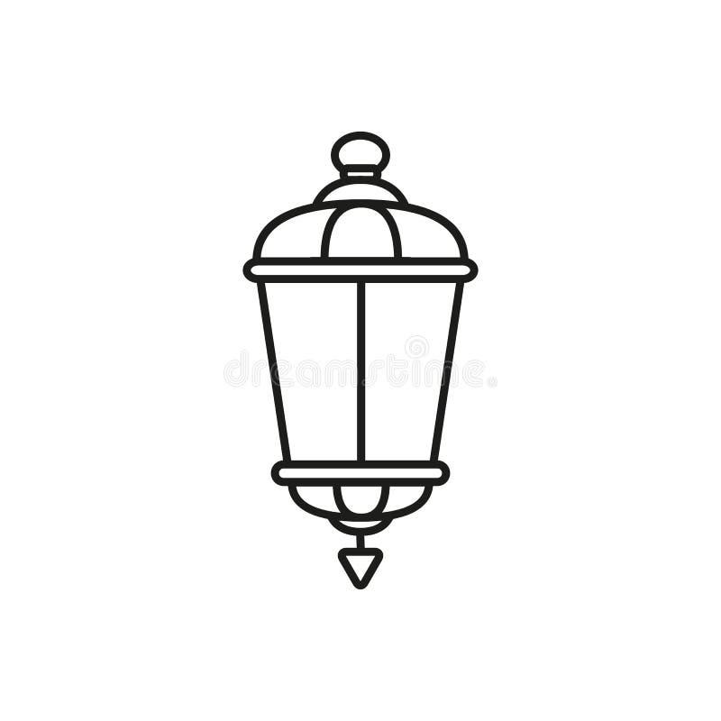 Lampowa stara uliczna ikona ilustracja wektor