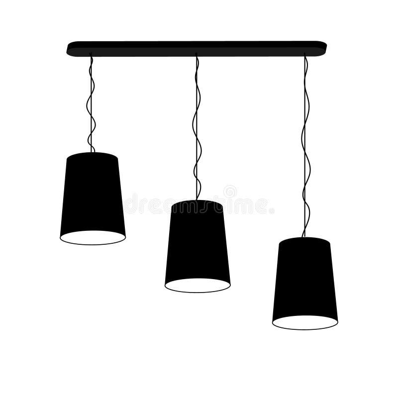 Lampowy świecznik dla trzy stropuje ilustracji