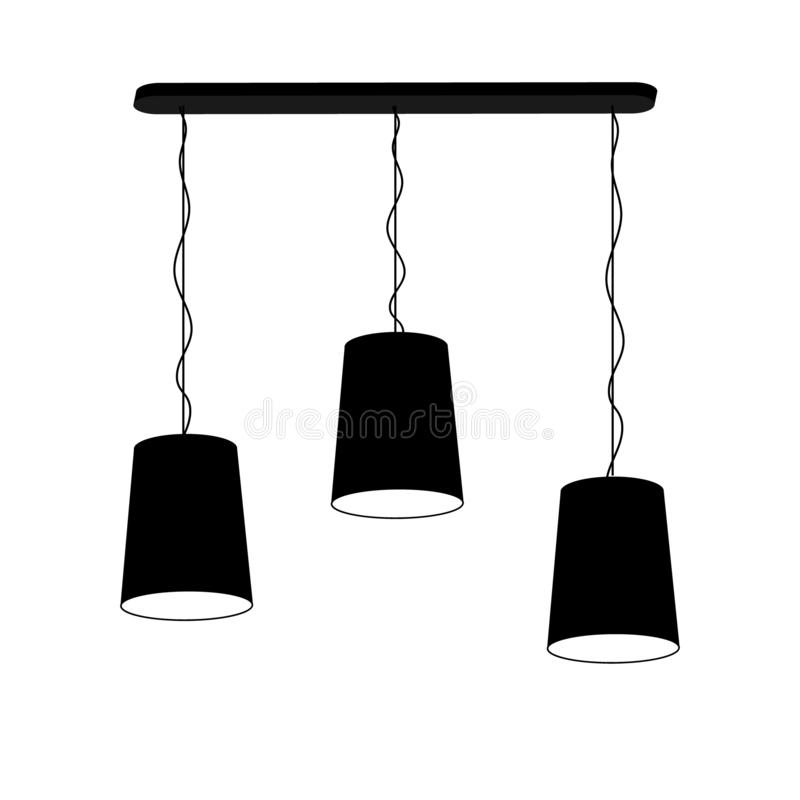 Lampowy świecznik dla trzy stropuje royalty ilustracja