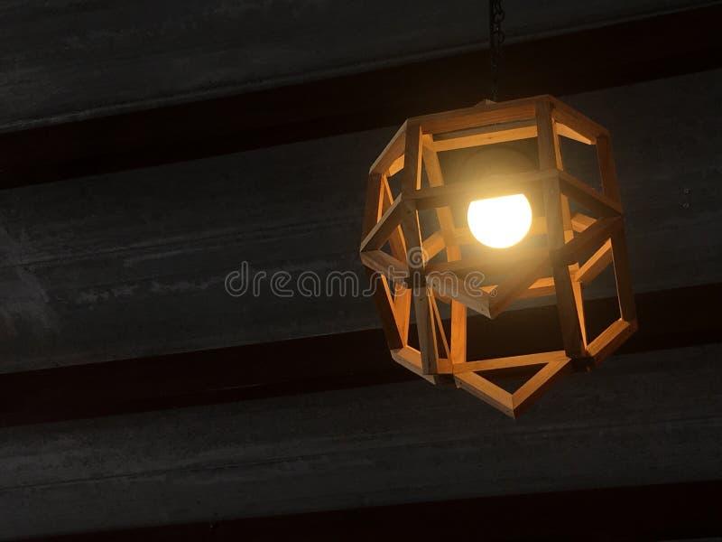 Lampowy drewno zdjęcie stock