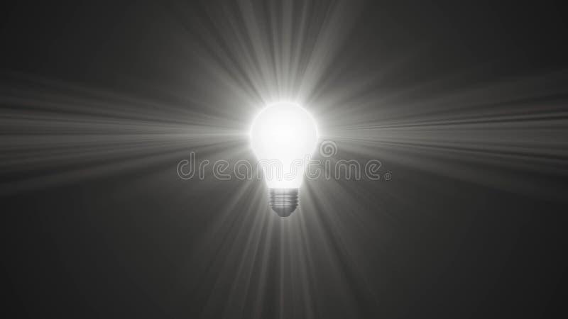 Lampowy ligh żarówki jaśnienie w promieniach światło okulistyczny obiektyw migocze 3d renderingu ilustracyjnego tła nowego  ilustracja wektor