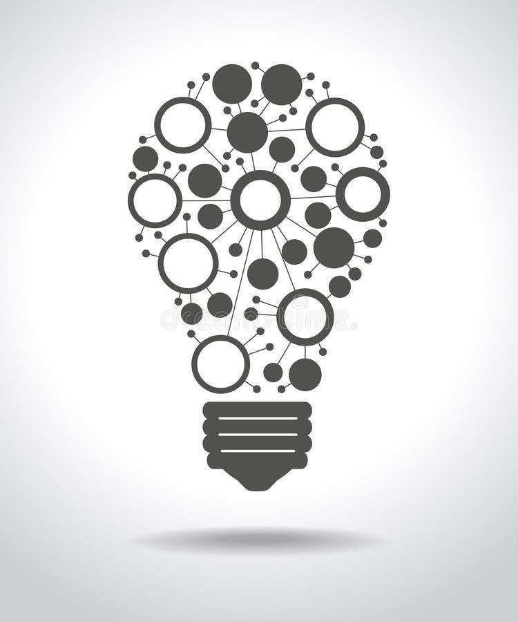 Lampowy składać się z połączenia ilustracja wektor
