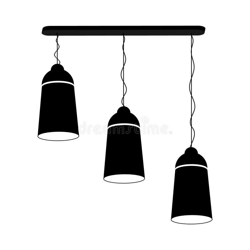 Lampowy ?wiecznik dla trzy stropuje ilustracji