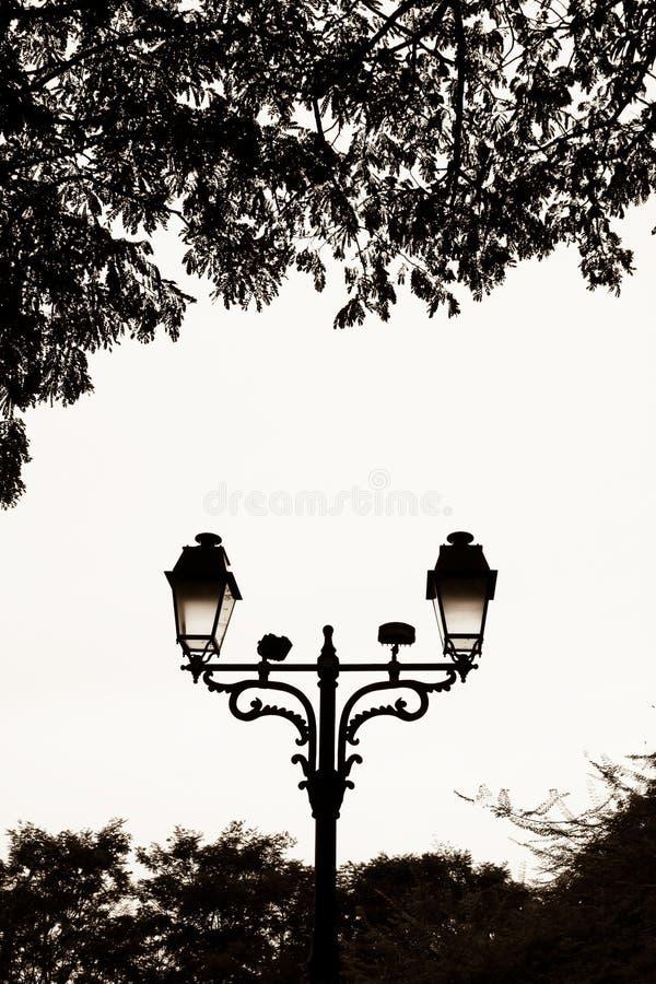 Download Lampparkgata arkivfoto. Bild av vitt, lampa, leaves, gammalt - 3547646