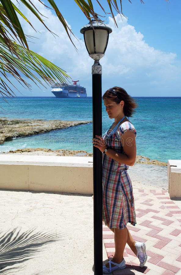 Download By The Lamppost stock image. Image of holiday, girl, cruise - 10961757
