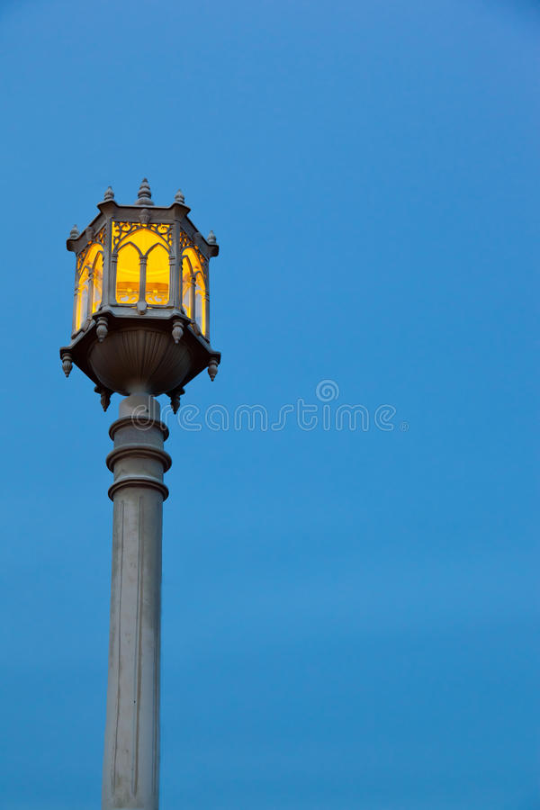 Download Lamppost stock image. Image of power, background, night - 22747281