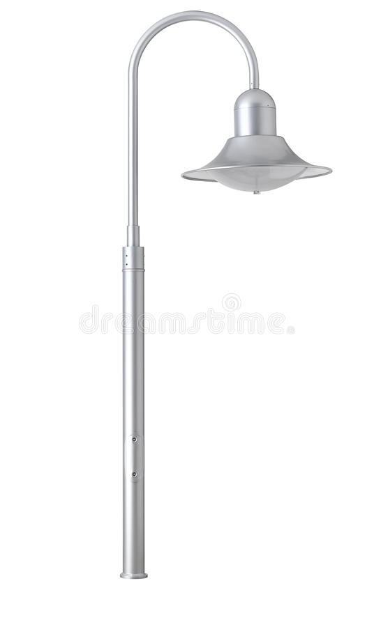 lamppost royalty-vrije illustratie