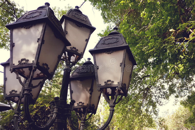 lamppost royalty-vrije stock afbeeldingen