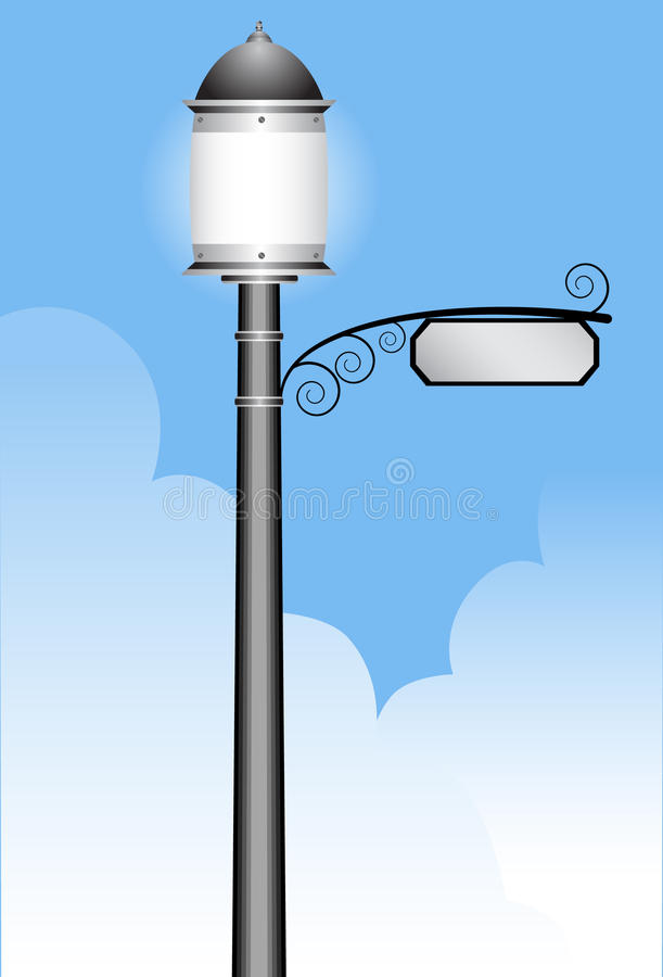 lamppost απεικόνιση αποθεμάτων