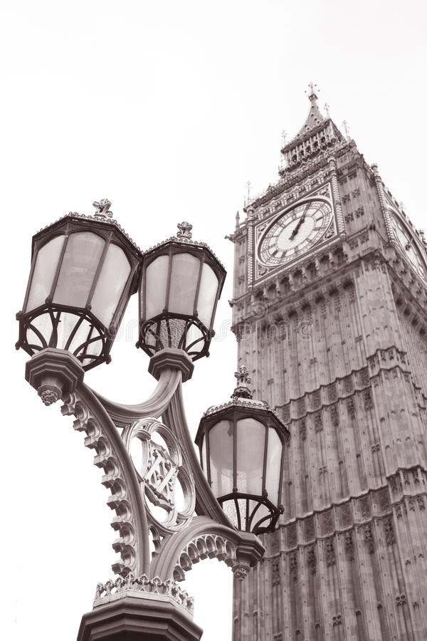 Download Lamppost And Big Ben At Westminster, London Stock Image - Image: 27807261