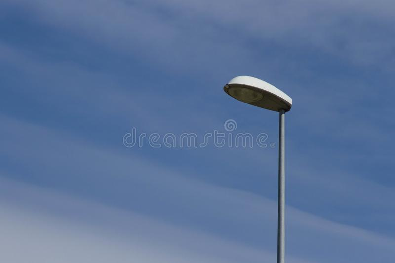 Street lamp in the sky royalty free stock images