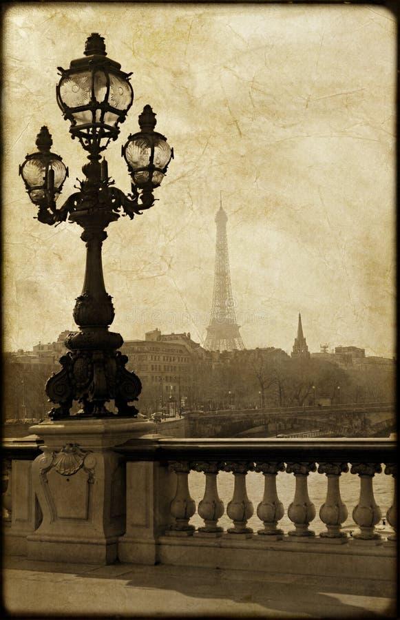 Lamppost on the bridge of Alexandre III stock image